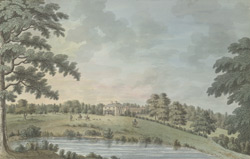 The south and east view of Brickley Lodge in Needwood Forest, 1786